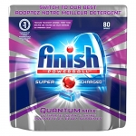 Finish Dishwasher Detergent Soap, Quantum Max, Shine and Glass Protect, Fresh, Mega Value Pack, 80 Tablets