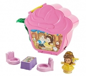 Fisher-Price Little People Disney Princess Belle's Fold 'N Go Rose Playset