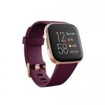 Fitbit Versa 2 Health & Fitness Smartwatch, Bordeaux/Copper Rose