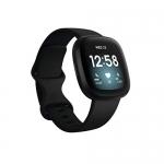 Fitbit Versa 3 Health & Fitness Smartwatch, Black/Black Aluminum