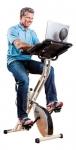 FitDesk Desk Exercise Bike with Massage Bar, White