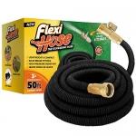 Flexi Hose The Ultimate No-Kink Flexible Water Hose (Black, 50 FT)