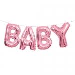 Foil Baby Letter Balloon Banner Kit