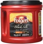 Folgers Black Silk Coffee 750g