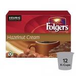 Folgers Hazelnut Cream K-Cup Coffee Pods 12 Count