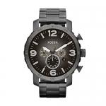Fossil Men's Nate Smoke Bracelet and Gunmetal Dial Watch