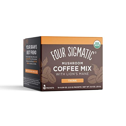 Four Sigmatic Mushroom Coffee Mix Think with Lion's Mane & Chaga, 10ct