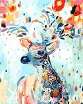 DIY Oil Painting Paint by Number Kit- Painted Deer