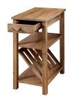 Furniture of America Erhart II 1-Drawer Side Table with Magazine Rack