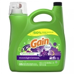 Gain Liquid Laundry Detergent With Febreze Freshness, Moonlight Breeze, 96 Loads