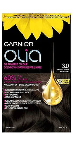 Garnier Olia Ammonia Free Hair Color, Dark Brown (3.0)