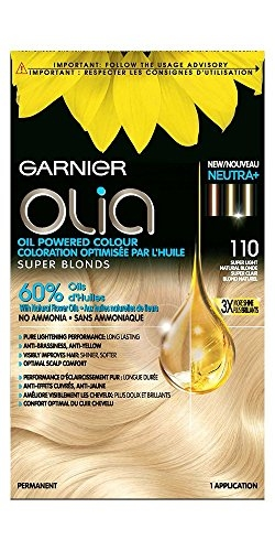 Garnier Olia Ammonia Free Hair Color, Light Ash Blonde. (110)