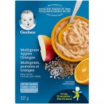 GERBER Cereal Stage 4, Apples & Oranges with Multigrain, 227 Grams, 6 Pack