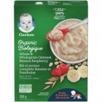 Free + Overage Gerber Organic Wheat & Wholegrain Oatmeal Banana Raspberry Cereal