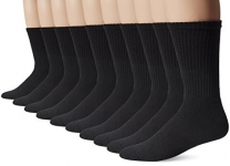 Gildan mens standard Men's Crew Socks (10 Pair Pack)