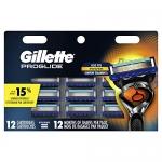 Gillette ProGlide Men's Razor Blade Refills, 12ct