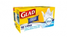 Glad Easy-Tie Large Kitchen Catchers Garbage Bags with Febreze Freshness, 40 Bags