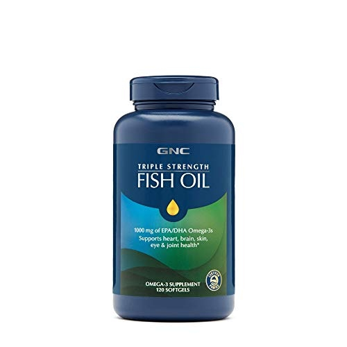 GNC Triple Strength Fish Oil 1000mg, 120 Softgels