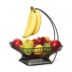 Gourmet Basics by Mikasa French Countryside Metal Fruit Basket with Banana Hook