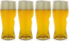 Govino Classic 16 oz Beer Glass-4 Pack Gift Box, Clear