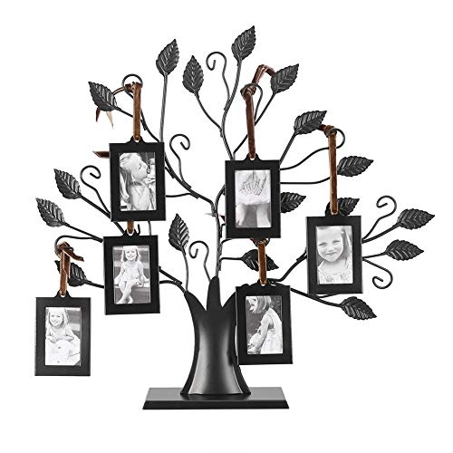 Metal Family Tree Photo Display Tree (Tabletop, Small)
