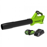 Greenworks Cordless Jet Blower, Battery and Charger Included
