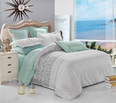 Grey Teal Duvet Cover Set Queen, Reversible (3pcs, Queen Size)