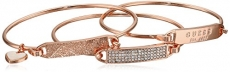 Guess 3 Piece Tension Id Rose Gold Bangle Bracelet