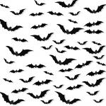 Halloween 3D Bats Decoration, 84 PCS