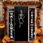 Halloween Door Banner Decorations, Trick or Treat & Happy Halloween