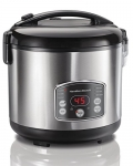 Hamilton Beach Digital Simplicity 4-20 Cup Rice Cooker and Food Steamer