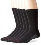 Hanes Men's 6-Pack FreshIQ Sport Cuts Crew Socks Black