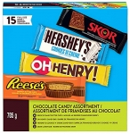 HERSHEY'S Assorted Variety Pack, 15 Bars