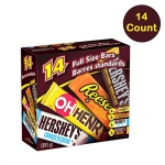 HERSHEY's Chocolate Candy Bar Assortment, 14 Count