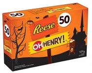 HERSHEY'S Halloween Candy Assortment (Reese, Oh Henry) 50 Count