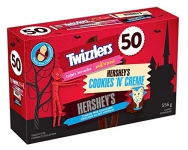 HERSHEY'S Halloween Candy Assortment (Twizzlers, Cookies 'N' Crème, HERSHEY'S) 50 Count