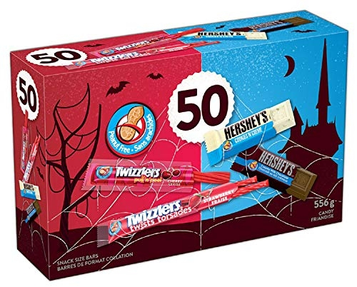 HERSHEY'S Halloween Candy Assortment (Twizzlers, Cookies 'N' Crème, HERSHEY'S) 50 Count