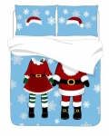 Holiday Time Mr & Mrs Claus Duvet Cover Set