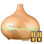 Homasy 150ml Mini Aroma Diffuser and Bloom Essential Oil Gift Set