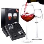 HOMEACC Shark Wine Glass Set of 2 with Box