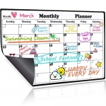 Homein Magnetic Dry Erase Calendar, 2019-2020 Monthly Planner