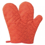 Homever Cotton Oven Mitts with Silicone, Heat Resistant to 464° F