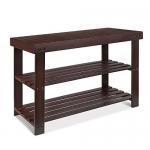 HOMFA Bamboo Shoe Rack Bench 2-Tier Storage Shelf Shoe Organizer