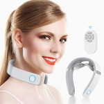 HOMIEE Smart Neck Massager with Heat, 6 Modes, 16 Levels of Intensity