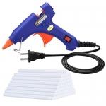 TOPELEK Mini Heating Hot Melt Glue Gun with 30pcs Melt Glue Sticks