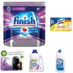 Household Bestsellers Starter Kit: Dishwashing Tabs, Disinfecting Wipes, Toilet Cleaner, Laundry, Air Care