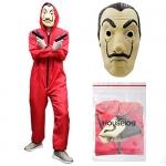 Houselog Dali La Casa De Papel Cosplay Money Heist Halloween Costumes with Mask