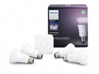 Hue White & Colour Ambiance A19 4 Pack Starter Kit