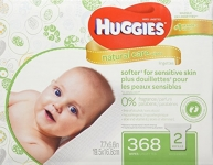 HUGGIES NATURAL CARE Fragrance-Free & Hypoallergenic Baby Wipes (2X Refill Packs, 368 Count)