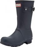 Hunter Original Short Boot Snow Boot, Navy Matte, Size 8